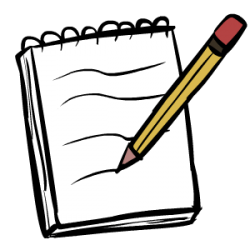 A notepad helps a lot in making comics!