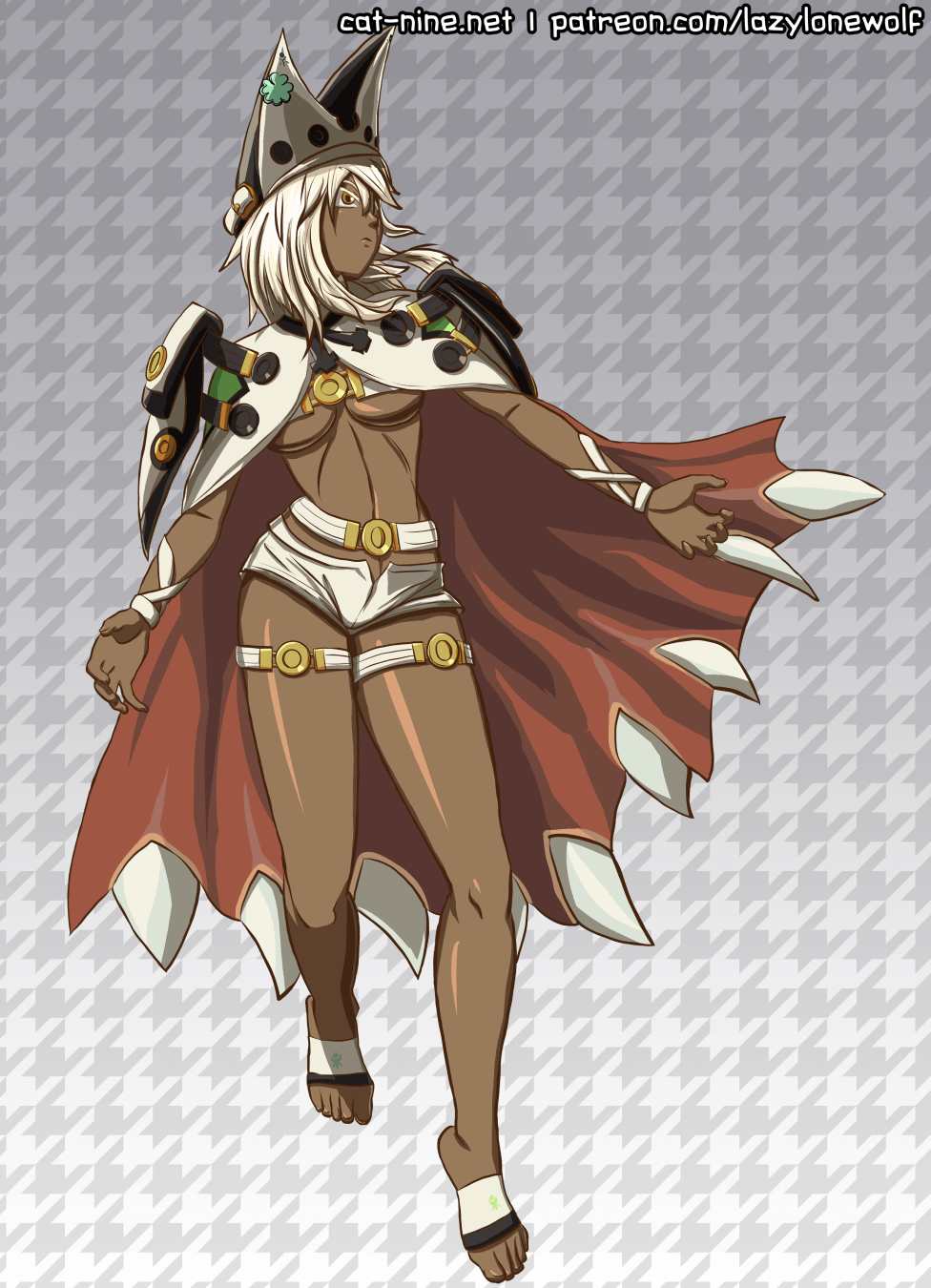 Colored fan artwork of Ramlethal Valentine from GUILTY GEAR Xrd -REVELATOR-