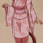 Artwork of Myan in a pink yukata