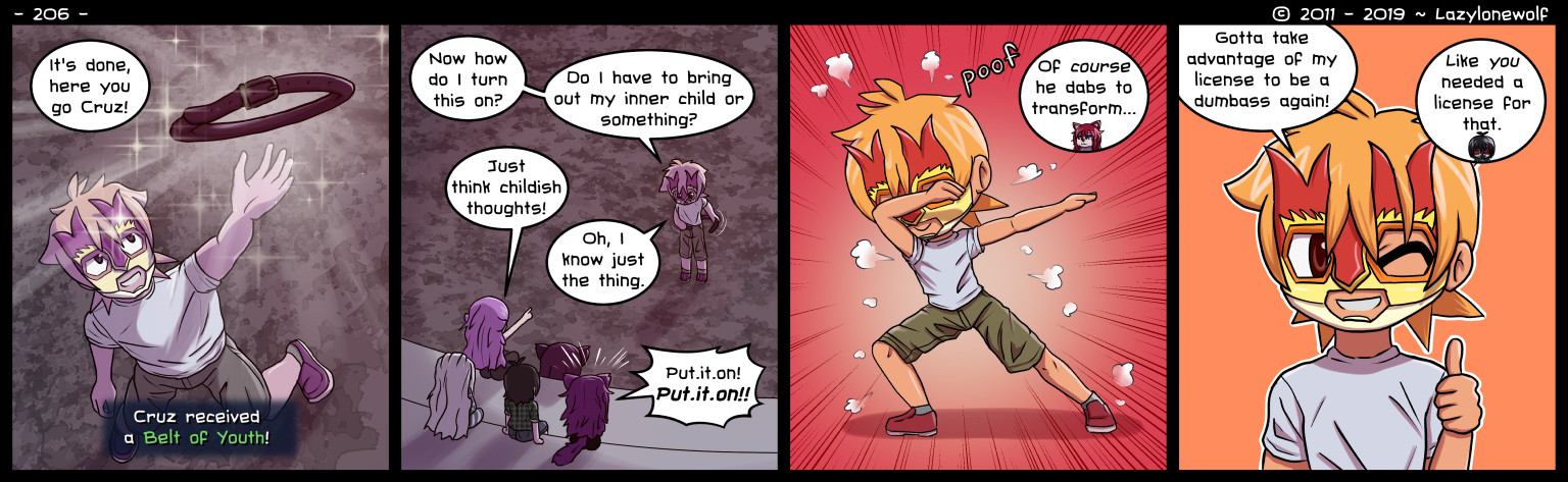 Cat Nine, the webcomic where dabbing is part of the story. You're welcome!