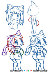 WIP drawings for Super ShortStack Myan