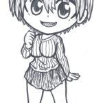 Chibi fan art of Uzaki from Uzaki-chan Wants to Hang Out!/宇崎ちゃんは遊びたい!