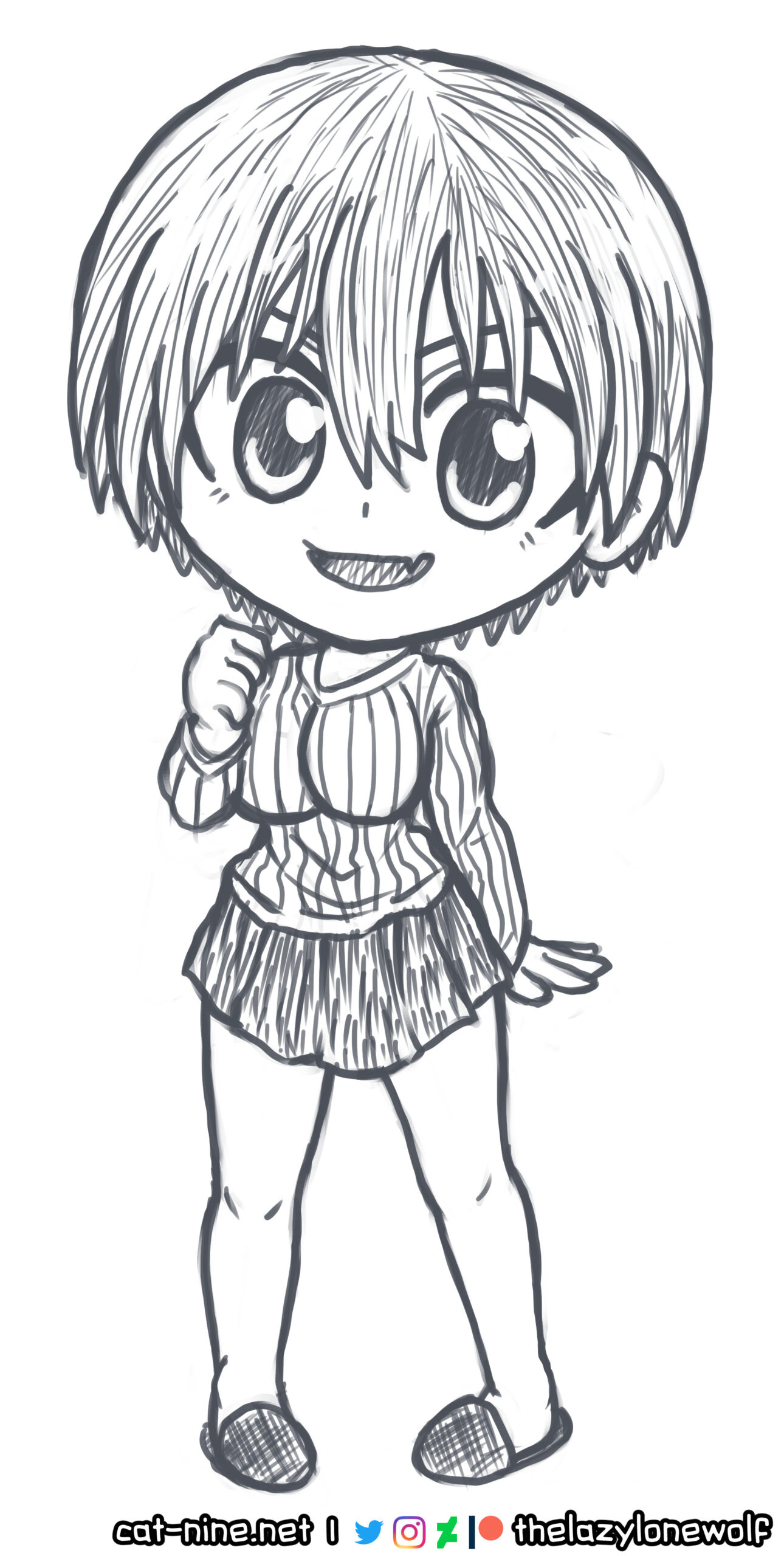 Chibi fan art of Uzaki from Uzaki-chan Wants to Hang Out!/宇崎ちゃんは遊びたい!