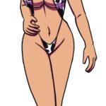 Bonus art of a female Keith that's genderbent. She's wearing a cow bikini