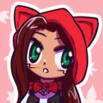 Bonus artwork of Myan wearing a Little Red Riding Hood costume